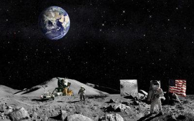 Imágenes De Astronautas En La Luna vista tierra