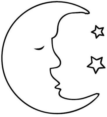 dibujos de la luna llena para colorear