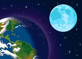 fotos de la tierra desde la luna azul