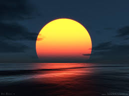 fotos de puestas de sol en el mar gratis