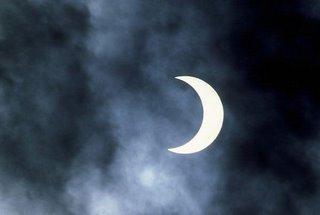 Imágenes De La Luna Menguante nublado