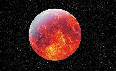 Imágenes De La Luna Sangrienta cielo estrellado