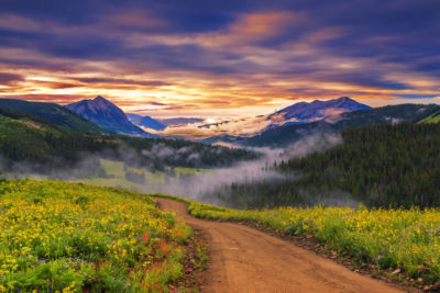 Imágenes De Paisajes De Atardecer montañas