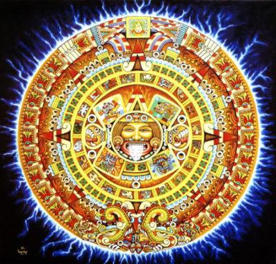 imagenes del sol azteca colores
