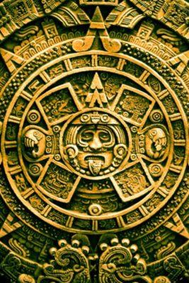 imagenes del sol azteca dorado