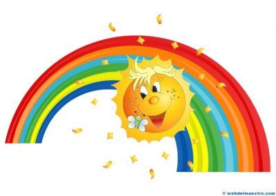 imagenes del sol en caricatura arcoiris