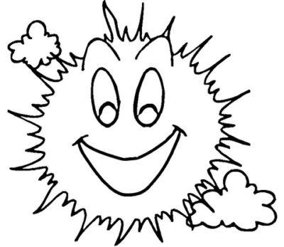 imagenes del sol para colorear sonrisa