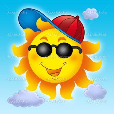 imagenes del sol para niños gorra