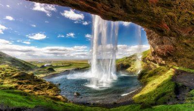 Imagenes de cascadas con brillo y movimiento portada