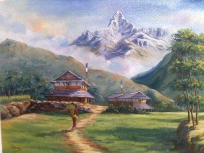 dibujos de paisajes naturales  hermosos