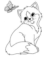 imagenes de animales domesticos para colorear gato