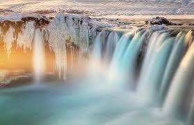imagenes de cascadas de agua azul con movimiento