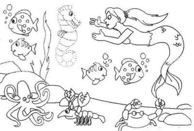 dibujos-de-arrecifes-de-coral-para-colorear