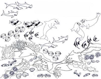 imagenes-de-corales-de-mar-para-colorear