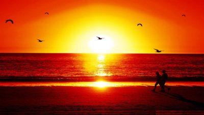 Imágenes De Atardeceres Románticos cielo playa