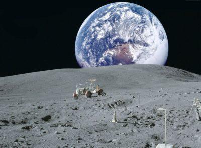 Imágenes De La Tierra Desde La Luna lunar