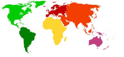 Imágenes De Mapas Del Mundo continentes