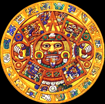 imagenes del sol azteca circulo