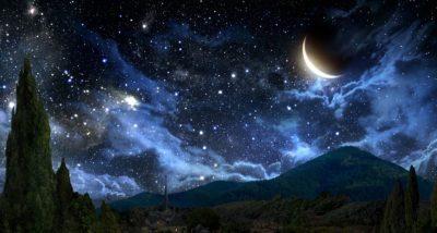 Paisajes de noche con movimientos luna