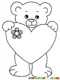 imagenes de osos para colorear corazon