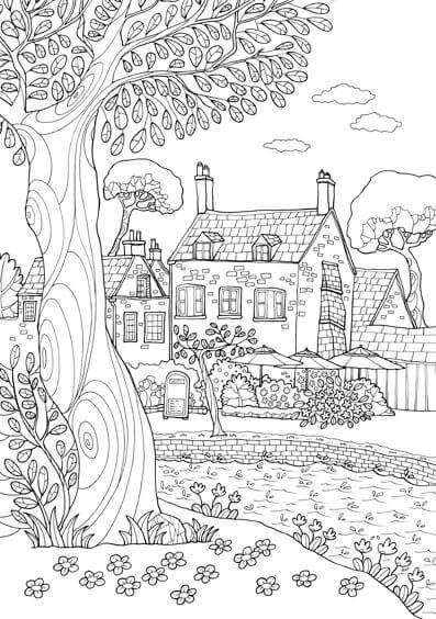 Image Of Dibujos Para Colorear De Paisajes Hermosos Dibujos de ...