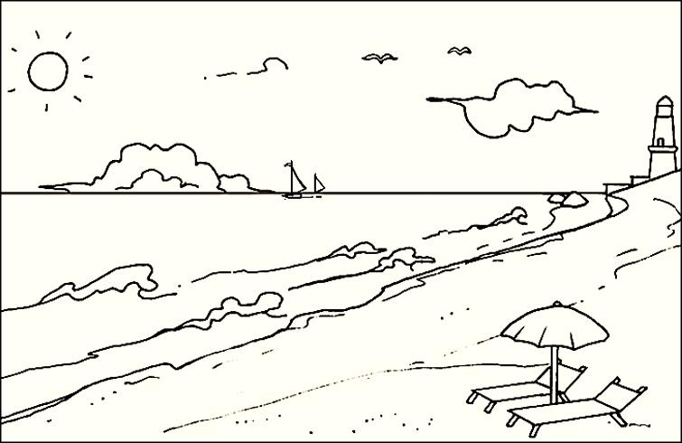 Paisajes Para Dibujar A Color Faciles: Las Mejores Imágenes De Paisajes Para Dibujar Fáciles