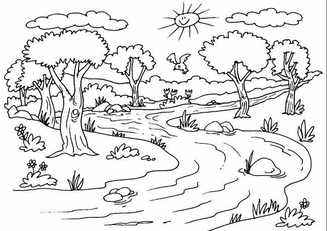 Los mejores paisajes naturales para dibujar f cil y bonitos for Paisajes para una pared