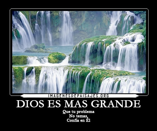 Imágenes de cascadas con frases cristianas