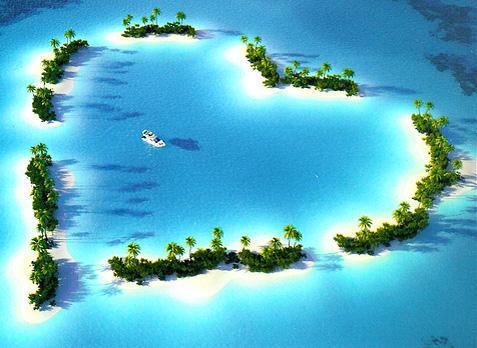 paisaje de amor con un corazon