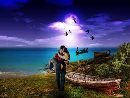 paisaje de amor en el mar