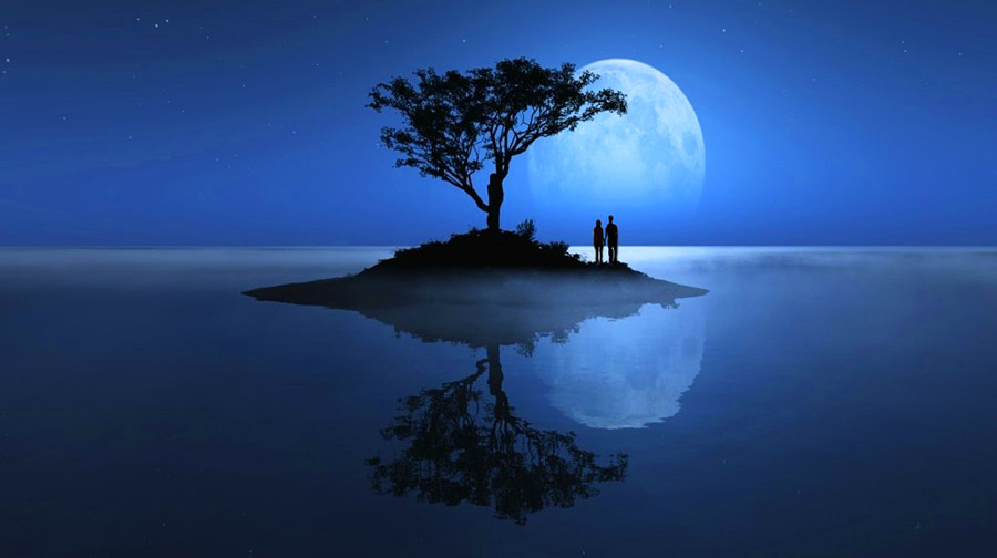 paisaje hermoso de amor eterno
