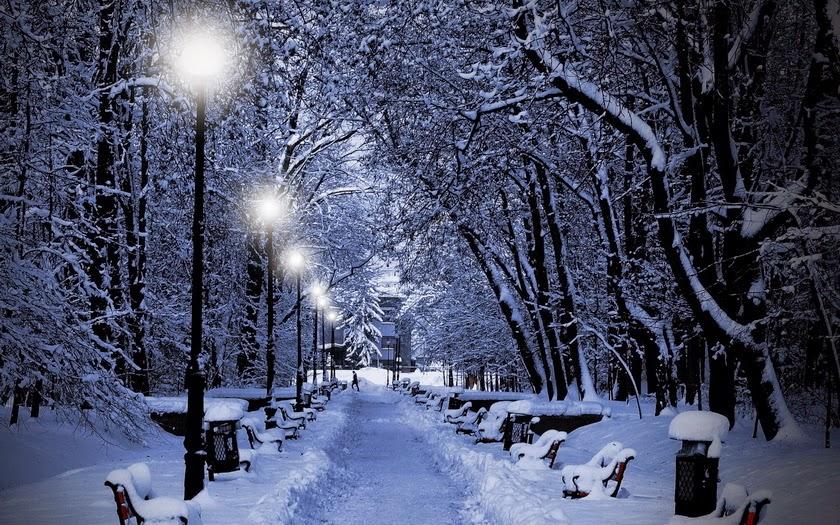 foto de calle cubierta de nieve invierno