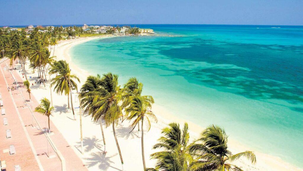 foto de san andres islas playa y palmeras